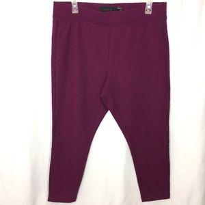 Torrid 1X Crop Leggings Berry Color